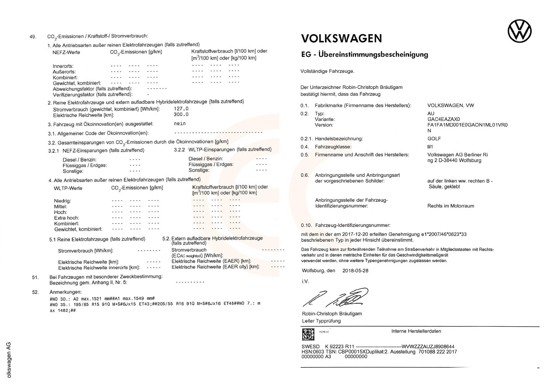Eurococ Coc Zertifikat Ewg übereinstimmungsbescheinigung